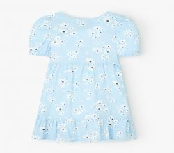 John Lewis and Partners Girls Floral Print Dress Blue